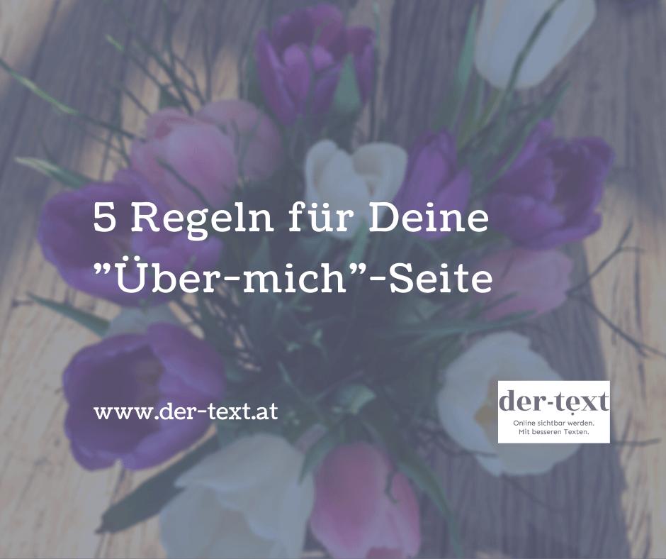 """5 Regeln für Deine """"Über-mich""""-Seite"""