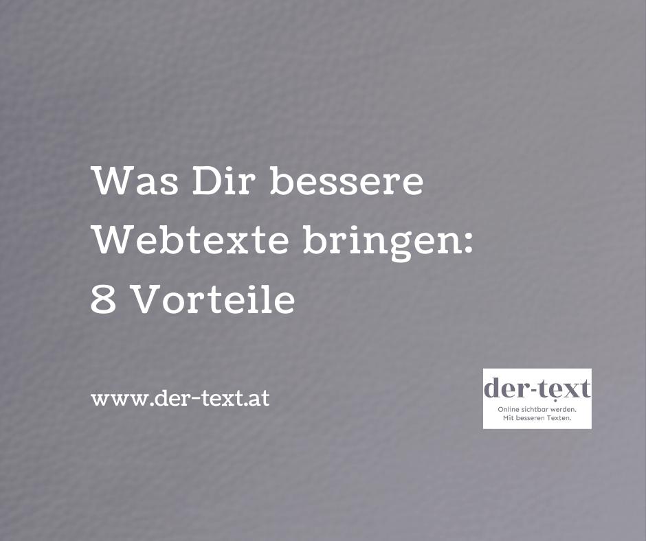 Was dir bessere Webtexte bringen