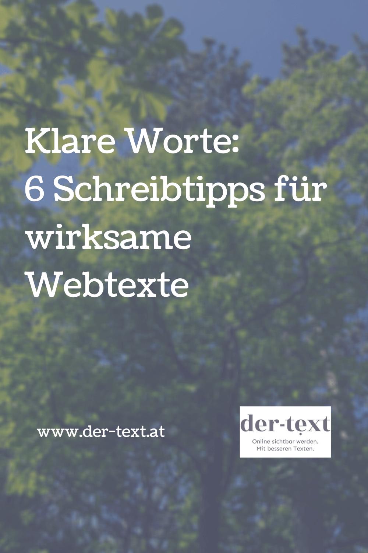 Klare Worte: 6 Schreibtipps für wirksame Webtexte