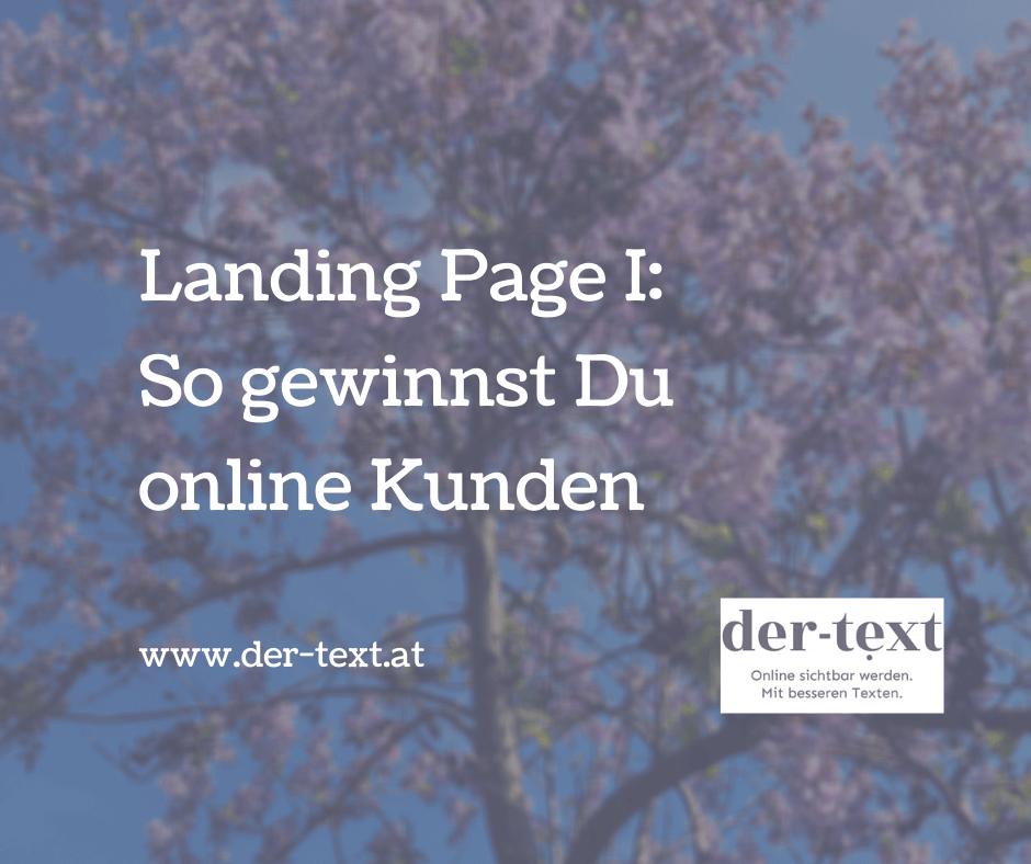 Landing Page: So gewinnst Du online Kunden