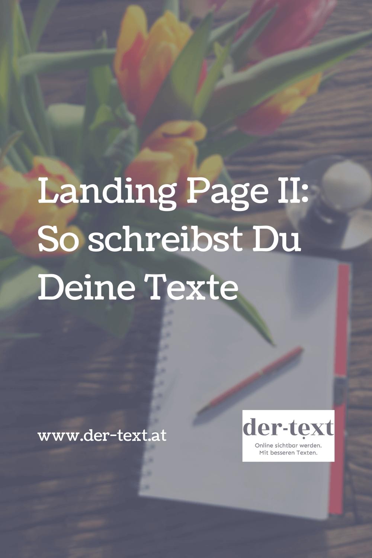 Landing Page texten