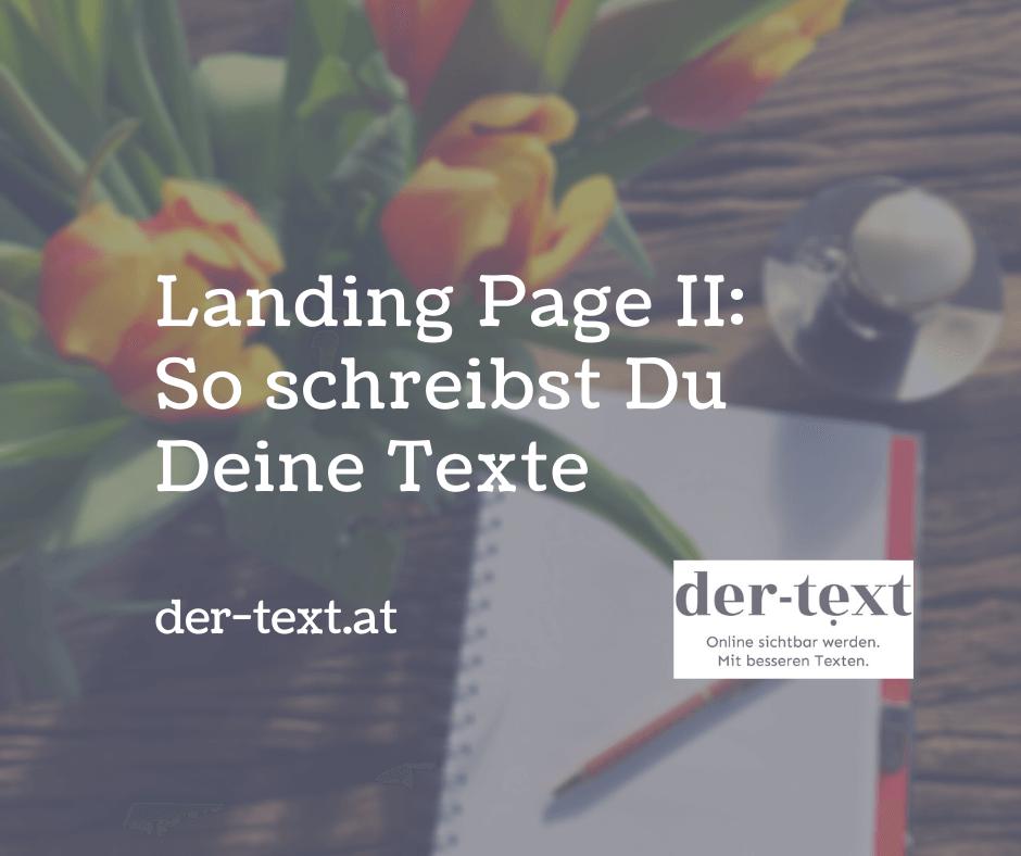 Landing Page 2: So schreibst Du Deine Texte