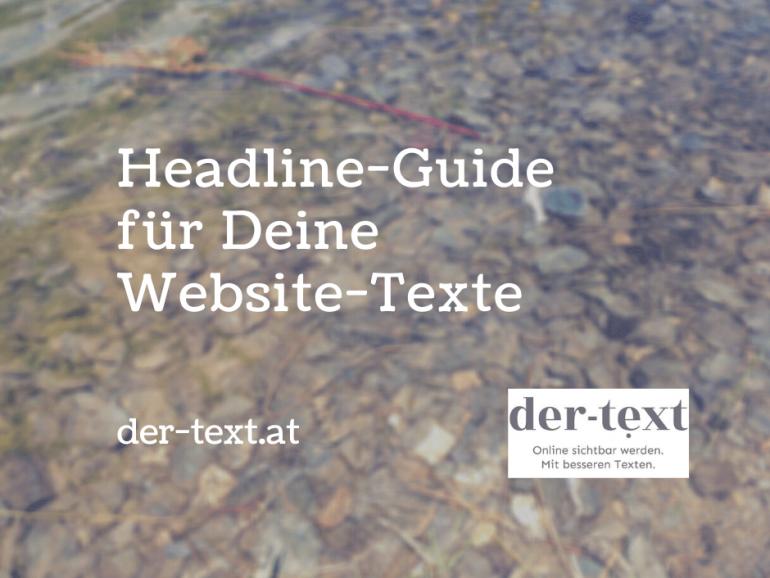 Headline-Guide für Deine Website-Texte