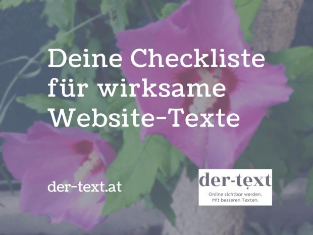 Deine Checkliste für wirksame Website-Texte