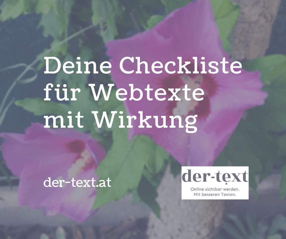 Deine Checkliste für Webtexte mit wirkung