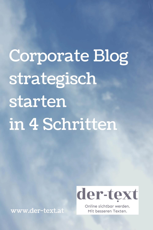 Corporate Blog strategisch starten in 4 Schritten