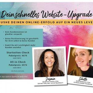 Coaching mit 2 Profis für Webtexte und Design
