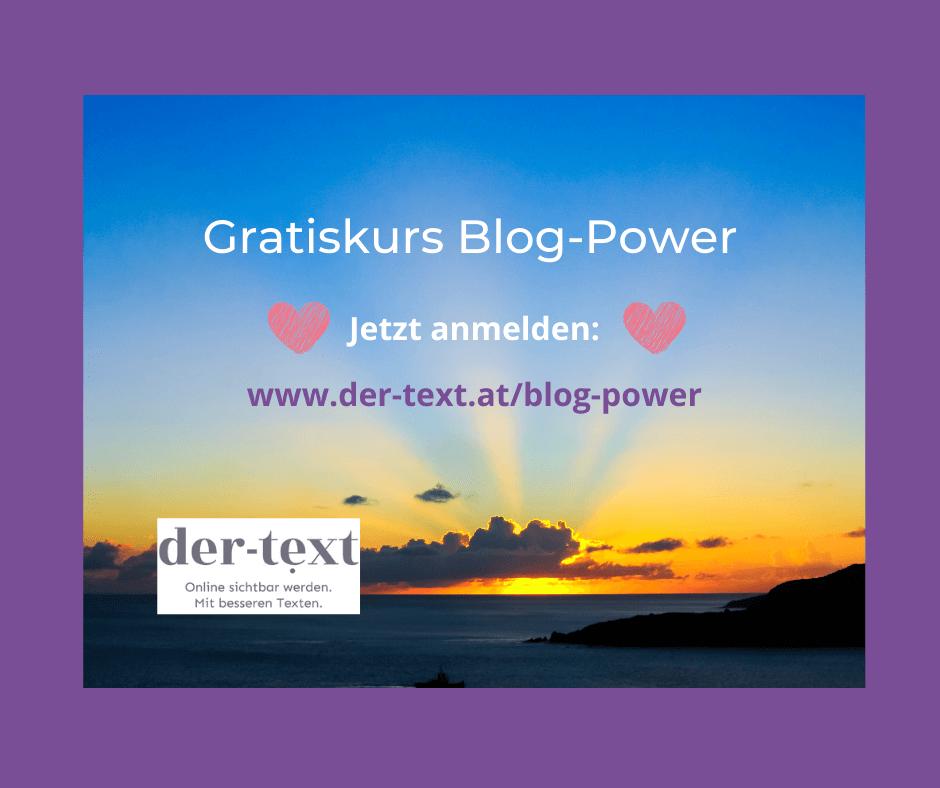 Gratiskurs Blog-Power: Jetzt anmelden!