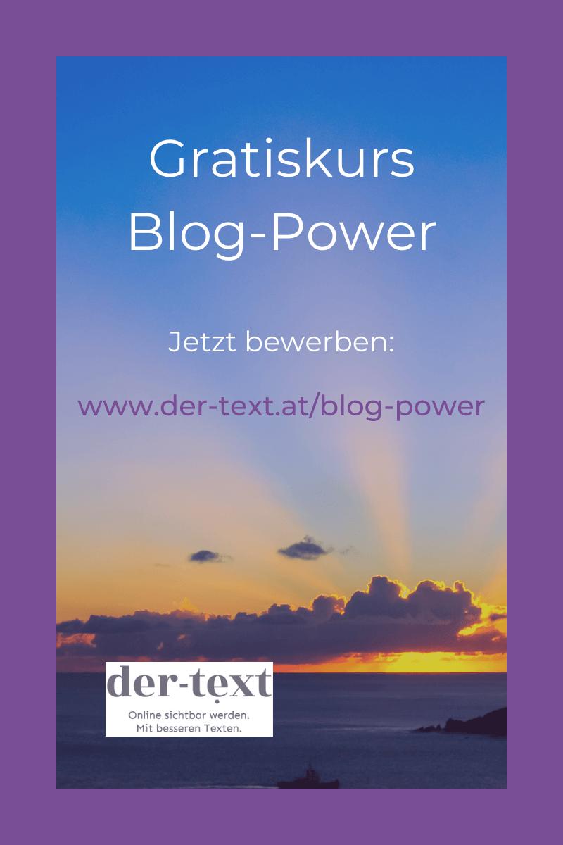 Gratiskurs Blog-Power: Jetzt anmelden