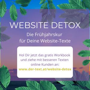 Hol Dir jetzt meinen neuen Freebie Website Detox