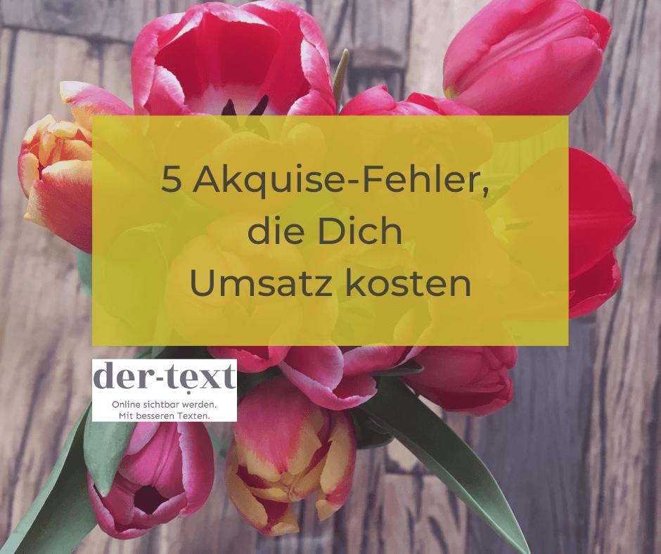 5 Akquisefehler online