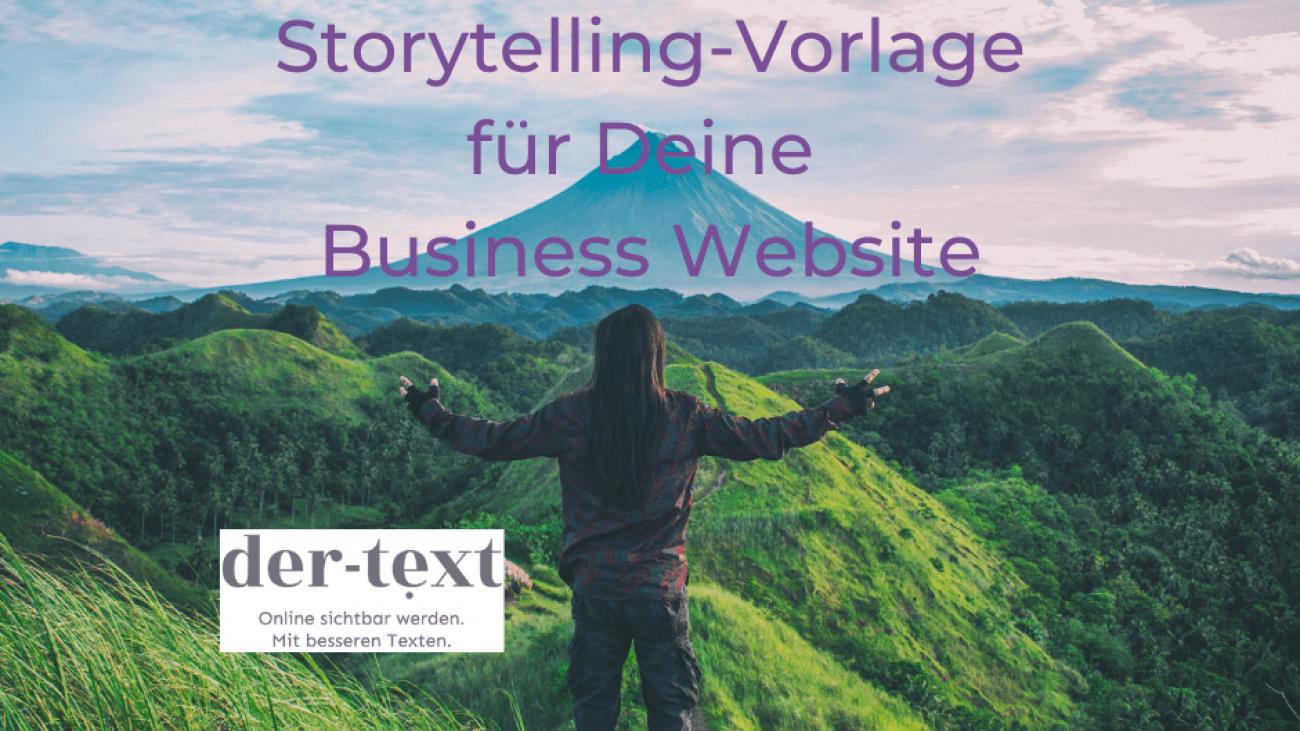 Storytelling-Vorlage für Deine Business Website