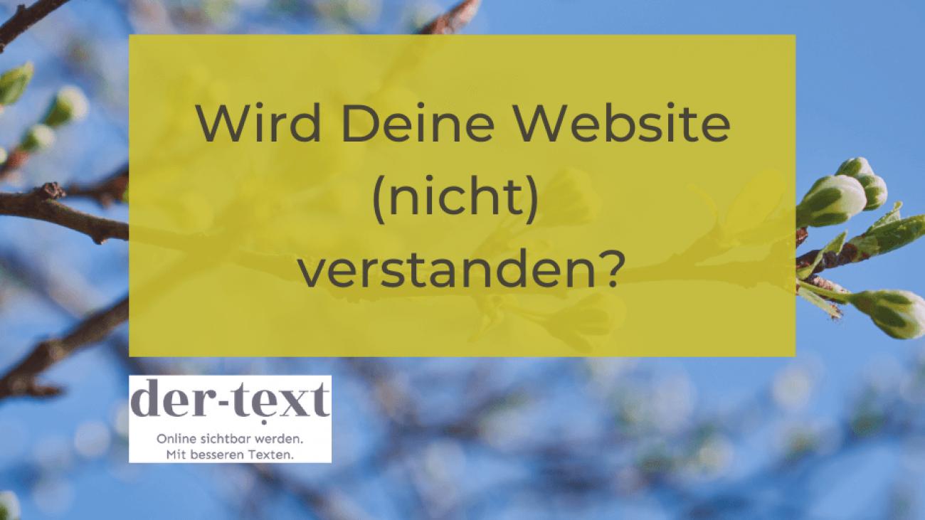 Wird deine Website nicht verstanden