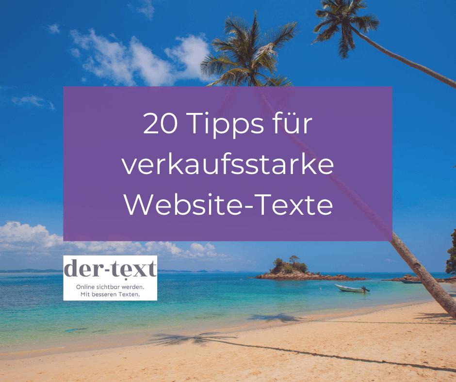 Checkliste: 20 Tipps für verkaufsstarke Website-Texte